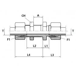 Niplu METRIC Filet Exterior con 24 ( cu olandez ) ERMETO- Filet Exterior lung con 24 (cu olandeza) ERMETO si piulita