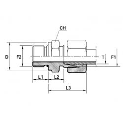 Reductie METRIC Filet Exterior(cu olandeza) con 24 ERMETO - UNF Filet Exterior fara con cu loc garnitura