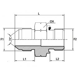 Reductie UNF Filet Exterior con 74 - METRIC Filet Exterior fara con cu garnitura