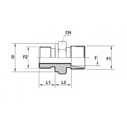 Reductie METRIC Filet Exterior con 24 ERMETO - BSP Filet Exterior fara con cu loc garnitura