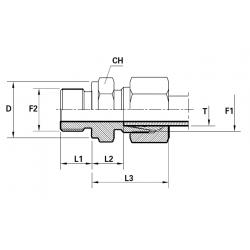 Reductie METRIC Filet Exterior(cu olandeza) con 24 ERMETO - BSP Filet Exterior fara con cu loc garnitura