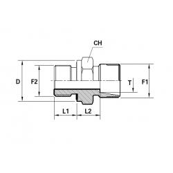 Reductie METRIC Filet Exterior con 24 ERMETO - BSP Filet Exterior fara con cu garnitura