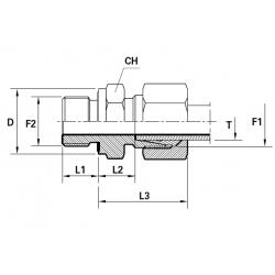 Reductie METRIC Filet Exterior(cu olandeza) con 24 ERMETO - BSP Filet Exterior fara con cu garnitura