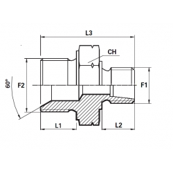 Reductie METRIC Filet Exterior con 24 - BSP Filet Exterior con 60 cu loc garnitura