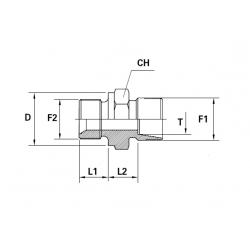 Reductie METRIC Filet Exterior con 24 ERMETO - BSP Filet Exterior con 60 cu loc garnitura