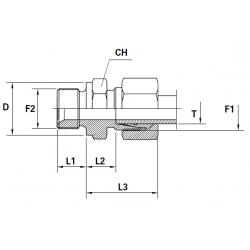Reductie METRIC Filet Exterior (cu olandeza) con 24 ERMETO - BSP Filet Exterior con 60 cu loc garnitura