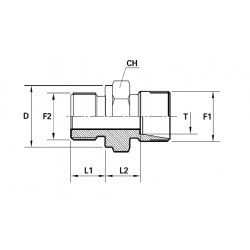 Reductie METRIC Filet Exterior con 24 ERMETO- Filet Exterior fara con cu loc de garnitura
