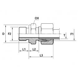 Reductie METRIC Filet Exterior con 24 ( cu olandez ) ERMETO- Filet Exterior fara con cu loc de garnitura