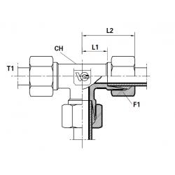 Adaptor T METRIC con 24 cu olandeze