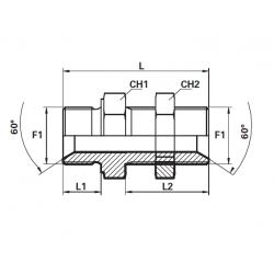 Niplu BSP Filet Exterior con 60 - Filet Exterior lung con 60 cu piulita