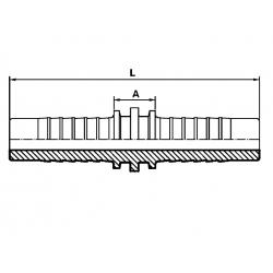 Conector dublu hidraulic DN08