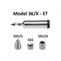 Pompa telescopica de gresare Model 36/K din metal cu accesorii pentru vaselina ET