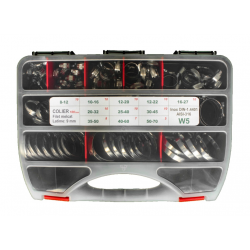 Sortiment Coliere filet melcat EURO W5 inox  - 100 buc.