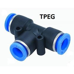 Cuplaj pneumatic reductie T  8 mm - 6 mm - 8 mm TPGE