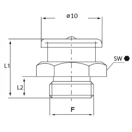 Gresor plat M4 DIN3404 otel zincat